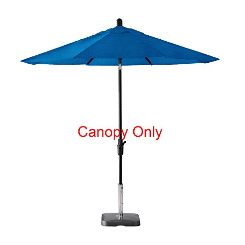 Amauri Outdoor Living The Market Collection Universal Fit Modern 9ft Sunbrella Fabric Replacement Umbrella Canopy, Pacific Blue Review