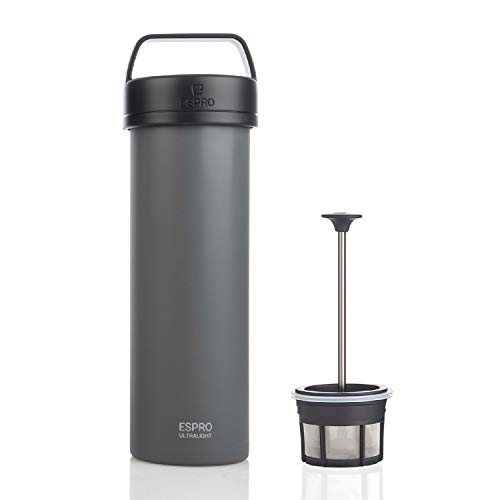 Espro 5116C-18GR Ultralight Coffee Press, Vacuum Insulated, Stainless Steel, 16 oz (Matte Grey), Gunmetal