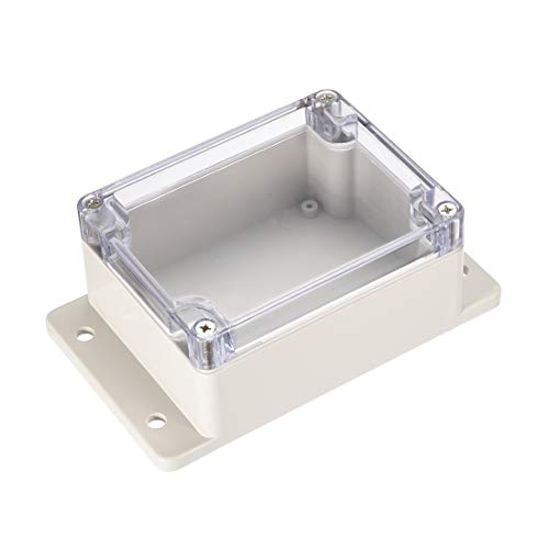uxcell 115mmx90mmx56mm 4.5 inches x 3.5 inches x 2.2 inches ABS Junction Box Universal Project Enclosure w PC Transparent Cover