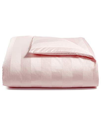 Charter Club Damask Stripe 550 Thread Count Supima Cotton Full/Queen Duvet Cover Cotton Candy