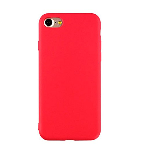 iBarbe iPhone 6S Case iPhone 6 (4.7 inch) Case,TPU light weight protective bumper skin with ultra Slim & Rugged Fit Shock Bumper easy grip silicone Phones shell accessories For iPhone 6/6S-Red
