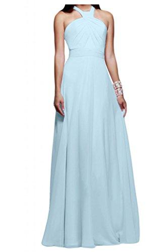 Toscana sposa Rueckenfrei dall'effetto Chiffon sera vestimento un'ampia Bete ball vestimento per festa Hell Himmel Blau 44