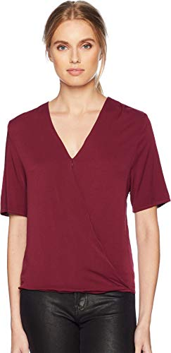 - Michael Stars Women's Rylie Rayon Short Sleeve Surplice Top Pinot Medium