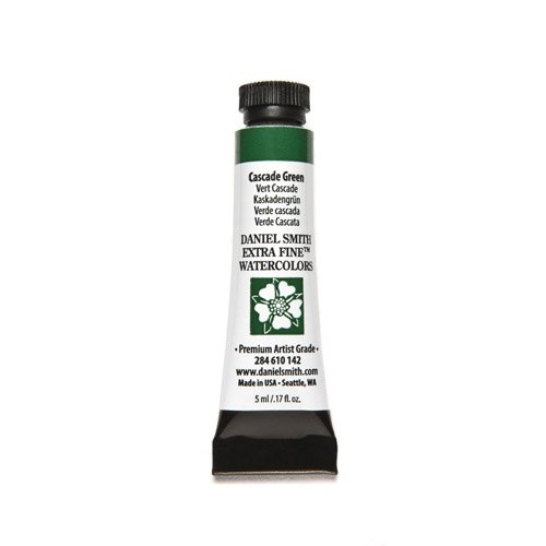 DANIEL SMITH 284610142 Extra Fine Watercolors Tube, 5ml, Cascade Green