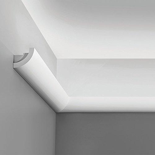 Orac Decor Cornice Moulding for Indirect Lighting C362 Crown Primed Polyurethane Face: 2-3/4
