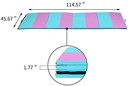 Folding Exercise Wrestling Mats for Kids with Handles LEISURELIFE Gymnastics Tumbling Mat for Home 4x10 4x8 4x6 2x6