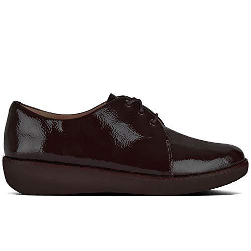 para Fitflop Cordones Berry Zapatos Mujer EU Derby de 42 Bluchers y Rojo Yq1Y6Sc