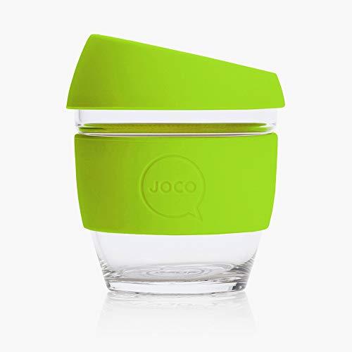 JOCO 8oz Glass Reusable Coffee Cup (Lime)