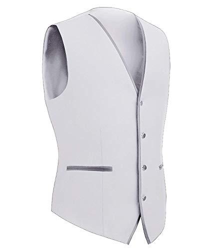 Jacket color Tuxedo Uomo Comodo A Slim Fit Size Scollo Senza Vest Da Giacche Maniche M Capispalla Monopetto Battercake Tuta Bianca V xE4q0wXTq