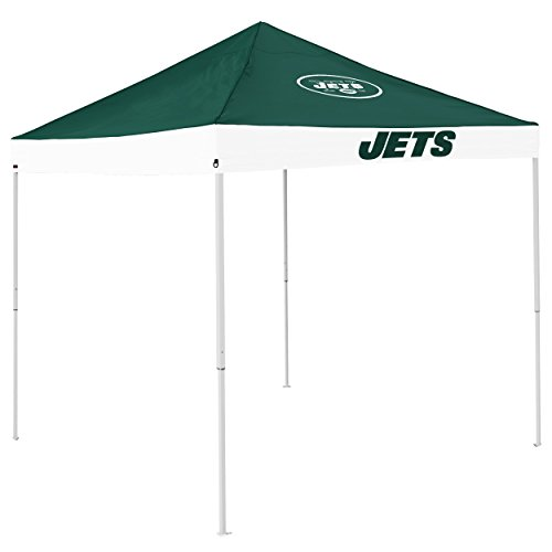 Logo Brands NFL New York Jets Economy Tent Economy Tent, Hunter, One Size