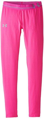 Coldgear Girls Legging (Under Armour Girls' HeatGear Armour, Rebel Pink /Steel, Youth X-Large)