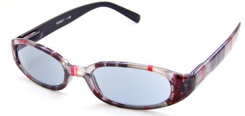 Designer Plaid Sun Reader Reading Glasses - Incredible Colors, 2.00, Gray