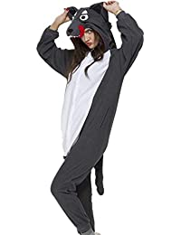 Onesie Adult Women Men Halloween Animal Pajamas Cosplay Sleepwear Costume  Cartoon Outfit e865da33c