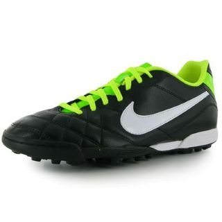 new arrival b60f4 3e911 Nike Tiempo Rio Tf Astro Turf Football Trainers Black Green ...