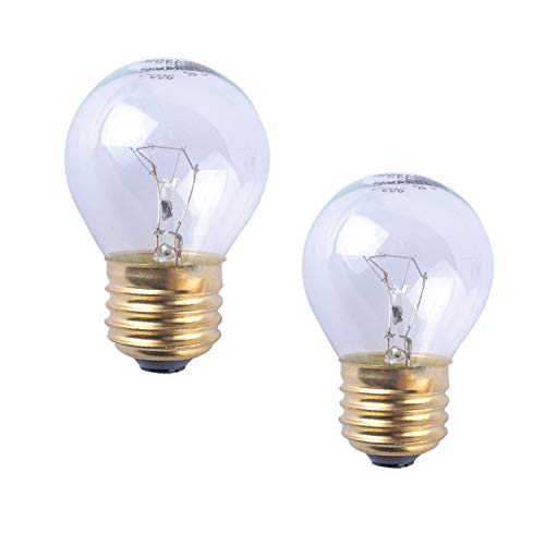 Wadoy Oven Refrigerator Bulbs 40W 110V-120V Clear Glass Light Bulb E27/E26 Medium Brass Base- Appliance Light Bulb 40 watt for Oven 400 Lumens (Pack of ()