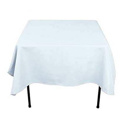 Bon LinenTablecloth 70 Inch Square Polyester Tablecloth Baby Blue