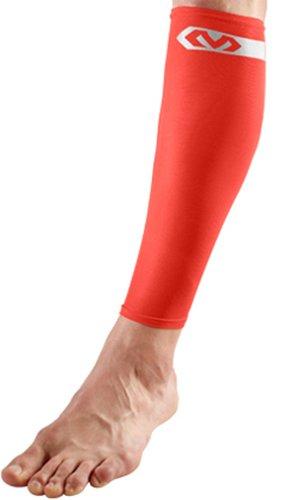 McDavid Pair Compression Reflective Calf Sleeves, Large, Bright Orange