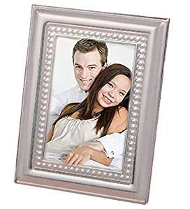 Matte Silver Beaded Metal Place Card/Photo Frames (50) ()