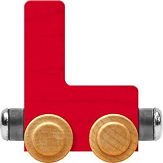 product image for Maple Landmark NameTrain Bright Letter Car L - Made in USA (Red)
