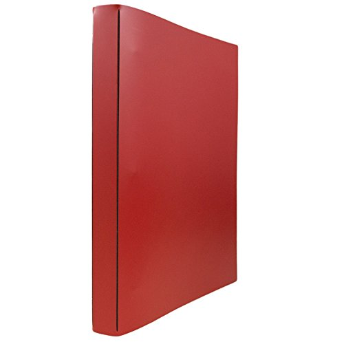 JAM PAPER Italian Leather 0.75 inch Binder - Red 3 Ring Binder - Sold -