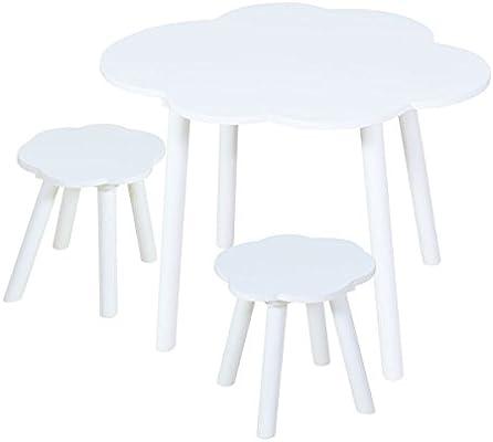 Mesa y sillas para niños Nube Blanca: Amazon.es: Hogar