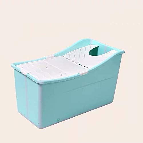 大人の折りたたみバスタブ、ポータブル浴槽断熱バスタブ非インフレータブルプラスチック入浴バケットアンチスリップ、長い断熱時間カバー付き,グリーン,A/with bath cover