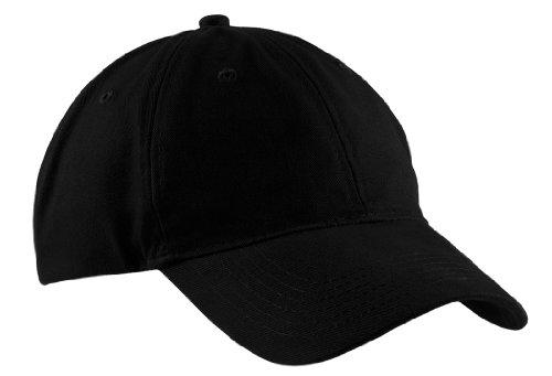 Port & Company Brushed Twill Low Profile Cap-OSFA (Black) ()