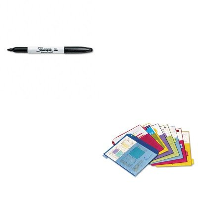 KITCRD84004SAN30001 - Value Kit - Cardinal Poly 2-Pocket Index Dividers (CRD84004) and Sharpie Permanent Marker (2 Poly Value Kit)