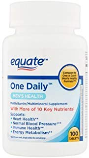 Equate One Daily Men's Multivitamin Multimineral Supplement, 100 Tablets - One Daily Mens 100 Tablets
