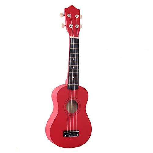sptblanche Ukulele 21 Inch Soprano Wood Guitar Beginner Kit Concert Ukulele with 1 Pick