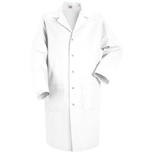 Red Kap Men's Lab Coat, White, Long Large Tall Lab Coats
