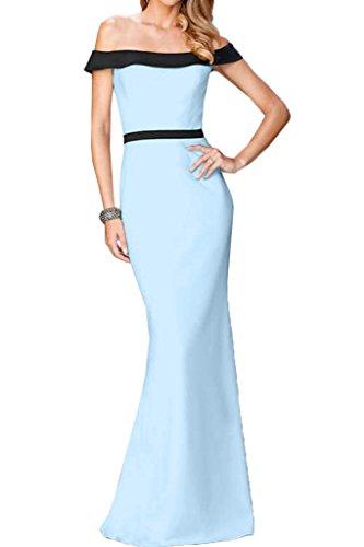 Partykleid Promkleid Linie Damen Festkleid Liebling Lang Himmelblau Ausschnitt U Ivydressing Etui Abendkleid R07q7B