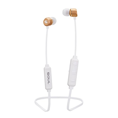 Soul Electronics Prime Wireless High Performance Earphones with Bluetooth (White) Fashion Lifestyle Earbuds - Magnetic Clip - 6 Hours Playtime - Interchangeable Ear Tips - Ergonomic Design - -