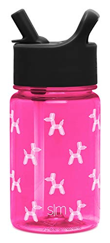 Simple Modern 12oz Summit Kids Tritan Water Bottle with Straw Lid for Toddler – Dishwasher Safe Travel Tumbler – Bubble Dogs