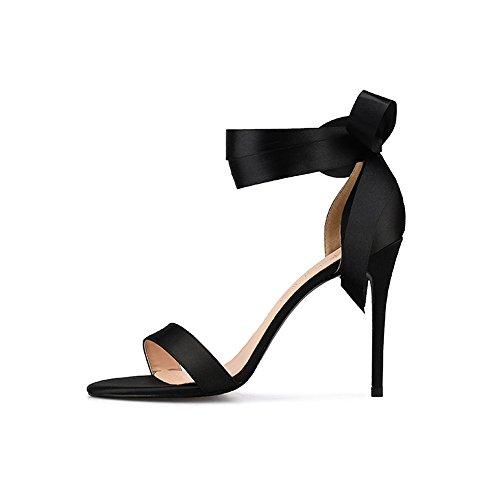 Nuevo Verano color desnudo Encaje Zapatos de 8cm Tacón 2018 ZHANGYUSEN 6Eqw571