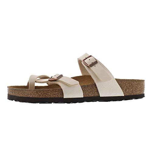 Birkenstock Women's Mayari Adjustable Toe Loop Cork Footbed Sandal Pearl Wht 36 M EU