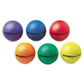 Rhino Skin Softi Balls Set of 6 (Purple, Blue, Red, Orange, Green, Yellow) by Rhino