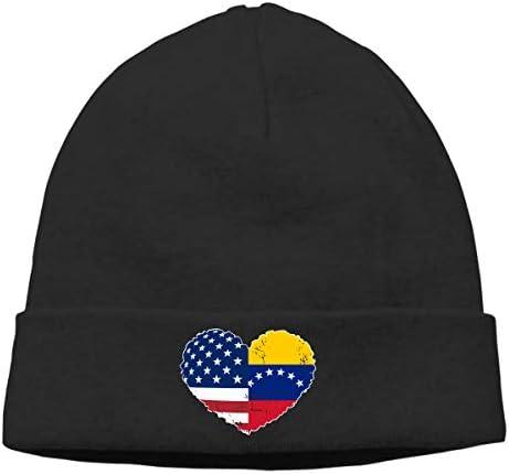 BBlooobow Unisex American Flag and Turkey Flag Soft Beanie Hat