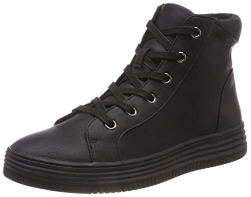 Bianco Noir black 100 Up Hautes Baskets Laced Hightop Femme rpnWr4q