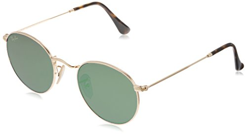 Ray-Ban Unisex RB3447 112/Z2 Non-Polarized Round Sunglasses, Gold/Copper Flash, 50 - Ban Optics Aviator Ray