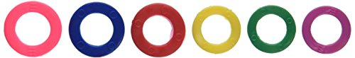 Identifier Key - Color Code Key Rings Assorted Sizes Plastic Tags (Pack of 6 Tag)