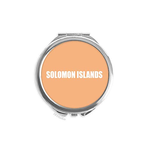 - Solomon Islands Country Name Hand Mirror Pocket Makeup Round Glass