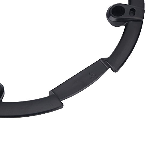 Chain Guard Protector, Black Plastic Chain Wheel Crankset Cover for Mountain Bike by VGEBY (Image #4)