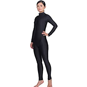 - 318r7IXd6LL - Adult High Neck Zip One Piece Unitard Full Body Leotard