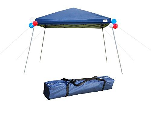 Foldable Gazebo (GOJOOASIS Pop Up Canopy Party Tent with Carry Bag 10x10 Instant Shelter Easy Gazebo Blue (Slant-Leg))