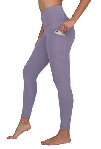 90 Degree By Reflex High Waist Interlink Yoga Pants - Plum Frost - Medium