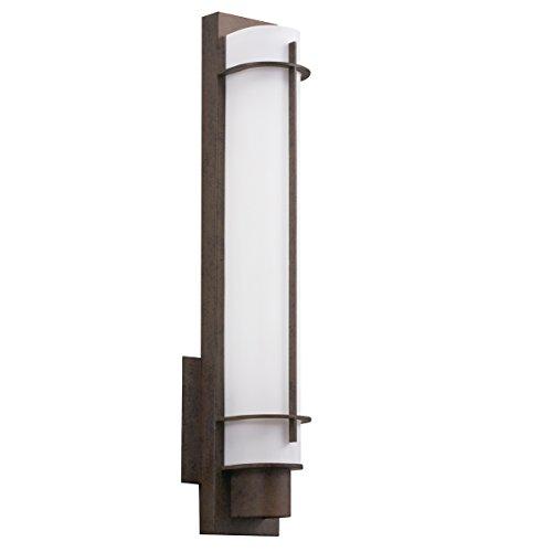 Opal Glass Electronic Ballast - Kichler 10448OZ Visalia Wall Sconce 1-Light Fluorescent, Olde Bronze