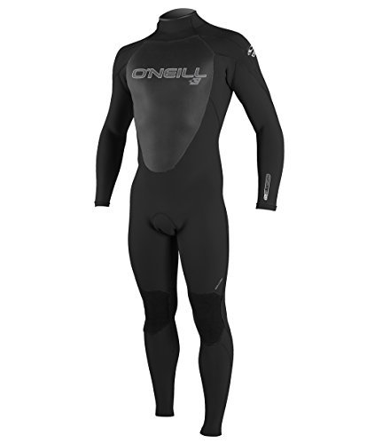 O'Neill Men's Epic 4/3mm Back Zip Full Wetsuit,黒/黒/黒,Large Tall