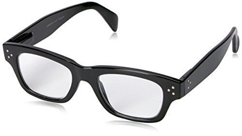 (Peepers Women's Dauntless 2308250 Rectangular Reading Glasses, black, 2.5)