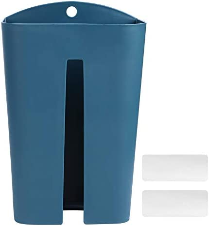 Müllsackhalter PP Kunststoff Wandmüll Müllsack Aufbewahrungshalter Tissue Dispenser Container Organizer Küchendekor(Dunkelblau)